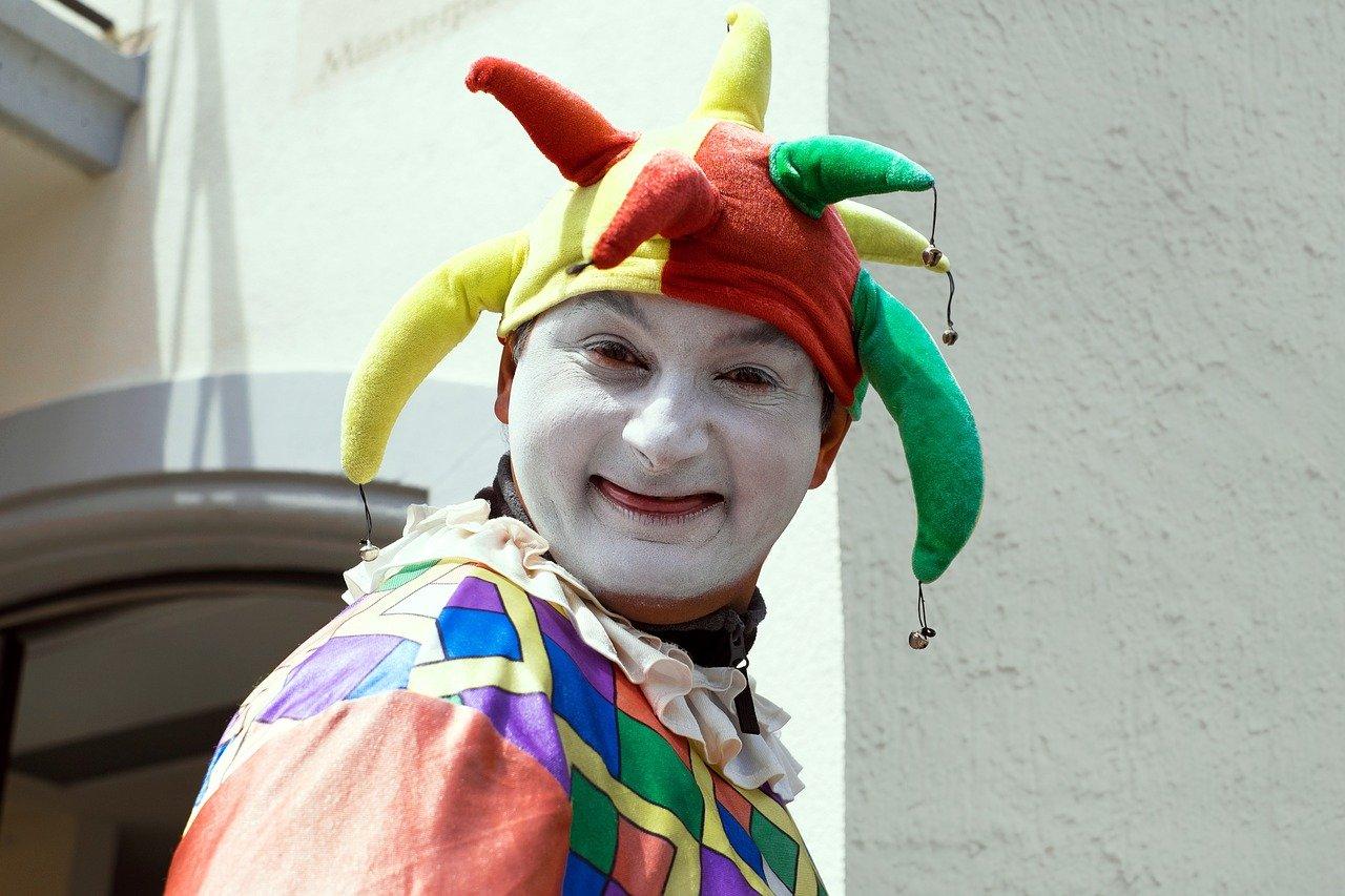 fool, court jester, clown